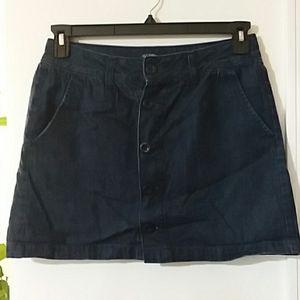 Dark blue vintage jean mini skirt